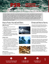 Climate Change and Health: Storms and Sea Level