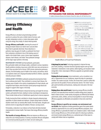 Energy Efficiency and Health